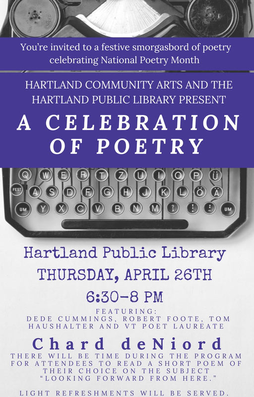 Second Annual Hartland Poetry Festival Graphic