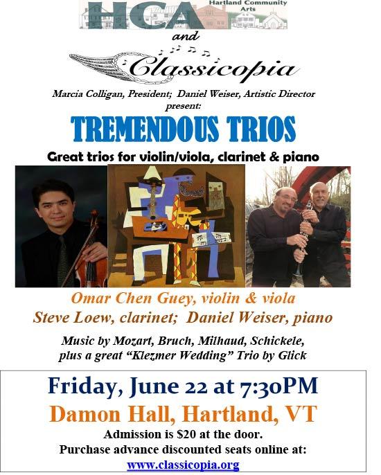 Classicopia in Hartland Tremendous Trios